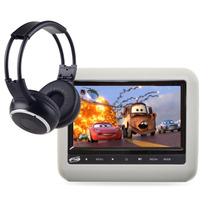 Dvd Encosto Cabeça Acoplar 9 Pol Cinza Fone Ouvido Universal