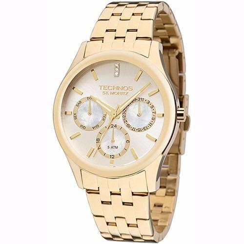 Relógio Technos Feminino Elegance St. Moritz 6p29agy 4k - R  379,90 ... 682724b622