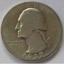 Quarter Dollar 1/4 Dolar 1937 Estados Unidos Plata !