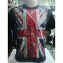 Camiseta Inglaterra Reino Unido Bandeira Malha Poliviscose