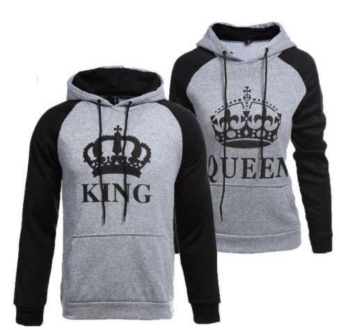 d3e0711e1b Kit 2 Moletons Moletom Casal Namorados Amor King Queen Love - R  159 ...