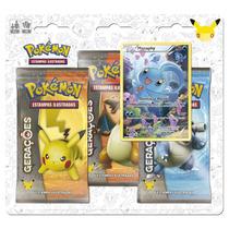 Novo Cartas Pokémon Triple Pack Gerações 2 Manaphy Original