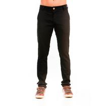 Calça Masculina Zoe Jeans - Bolso Faca - Tradicional - Preta
