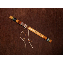 Flauta Nativa Americana F (fá) High De Bambu - Sopro Nativo
