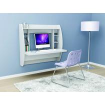 Mesa Computador Suspensa Quarto Apartamento 15mm Branco