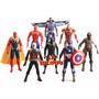Avengers Vengadores Spider Iron X 4 Muñecos Blister Gigante
