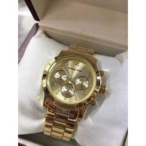 Relógio Feminino Dourado Aço Inox + Frete Grátis