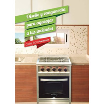 Cocina Morelli Premium 600 Acero Inoxidable Reja Vitrificada