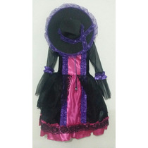 Disfraz Catrina Niñas Con Sombrero Muerte