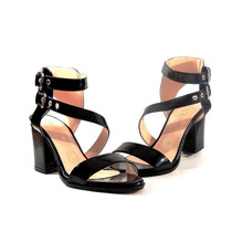Sandalia Dalia Negro Zapato Mujer Nuevo