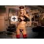 Disfraz Hot De Enfermera Negra Sexy C/bucaneras De Obsequio