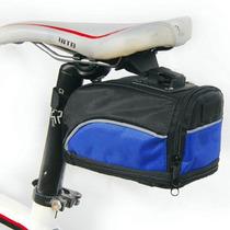 Mochila Bolsa Impermeable Asiento De Bicicleta Azul D1099