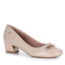 Sapato Salto Conforto Feminino Usaflex By Perfetto - Nude