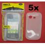 Lote Atacado 5x Capa Silicone Pocket Duos S5302 S5303 Smarti