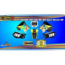Kit Calcos Suzuki Rm 125 96/98 Laminado 3m Grueso Brillante