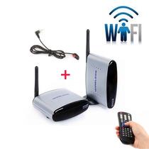 Transmissor Receptor Wireless Áudio Vídeo Tv + Controle Ir
