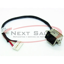 Ficha Pin Dc Jack Carga Y Cable Hp Dv6-6000 Serie Zona Norte