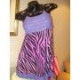 Vestido Print Verano Jersey De Seda Fria, Voladitos Escote !