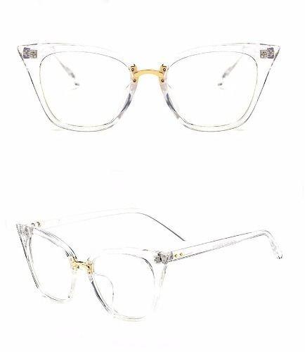 d0855623d2f33 Óculos De Armação Gatinha Vintage - R  65,39 em Mercado Livre