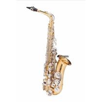 Sax Alto Michael Dual Gold Wasm49duplo Dourado E Niquelado