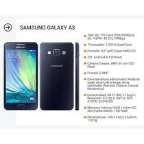 Samsung Galaxy A3 Nuevo Libre Original T Del Fuego!garatia