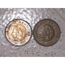 Monedas De 50 Centavos, Cuauhtémoc. (lote De 2)