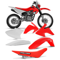 Kit Plástico + Banco Vermelho Honda Crf 230 Roupa Completa