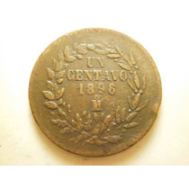 Moneda Un Centavo Ceca Mo. Fecha 1896 Cobre