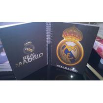 Caderno De Anotações Com Adesivos Real Madrid