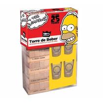 Torre Del Beber Simpson Jenga Shots Tequila Vasos Tequileros