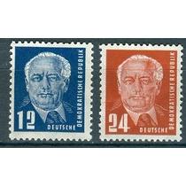 Sc 54 - 55 Año 1950 Alemania Presidente Wilhelm Pieck Mnh