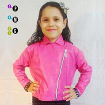 Jaqueta Infantil Feminina De Couro Sintético Casaco Comprar