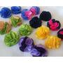Pompones Flores De Tela, Cinta, Apliques, Lazos, Cintillos!