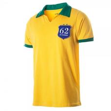 3ae76daee9 Camisa Polo Brasil 1962 Retrô Gol - Amarelo