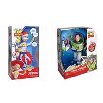 Buzz Lightear Fala 21 Frases + Boneca Jessie Toy Story