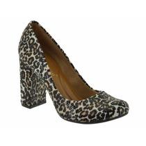 Sapato Feminino Estampa Oncinha Dicristalli Frete Gratis