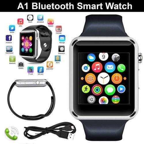 fbe9279b422 Relogio Celular A1 Smartwatch 3g Chip Android Samsung App - R  64