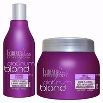 Kit Forever Liss Creme Matizador Platinum Blond Hidratação