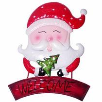 Enfeite Face Papai Noel Para Pendurar Parede Natal