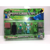 Minecraft Kit 12 Peças Boneco Brinquedo Pronta Entrega