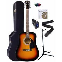 Guitarra Acustica Fender Fa-100 Dreadnought Sunburst