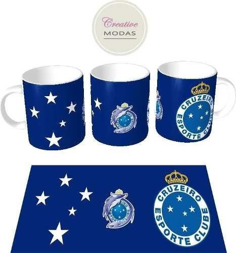 Canecas Porcelana Personalizada Cruzeiro 350ml + Caixinha - R  19 57b31be64d571
