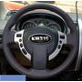 Funda Piel Volante A Medida Nissan X-trail Rouge Hilo Negro