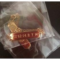 Placas Con Nombre Grabadas En Chapa De Oro 18k