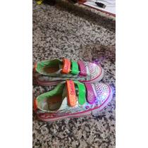 Hermosos Zapatos Skeachers Con Luces Nro 28.5