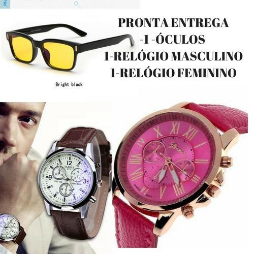 f45b4339ac8 Kit 2-relogios + Frete Gratis 1 Oculos ! + 2 Colares !1 - R  120