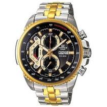Relógio Casio Edifice 558 Dourado Prata Completo Pronta Entr