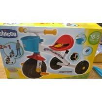 Triciclo Marca Chicco Metal Canastilla Mango Telescopico Cin