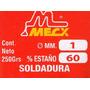 Soldadura De Estaño 250 Gramos - Marca Mecx
