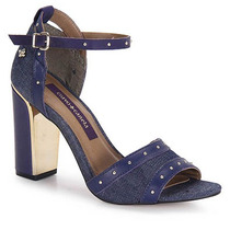 Sandália Salto Feminina Cravo & Canela - Jeans